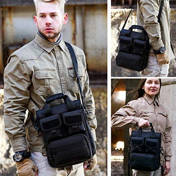 BraveHawk OUTDOORS Tactical Backpack 7 BraveHawk OUTDOORS Tactical Briefcase Messenger Bag, 800D Military Nylon Oxford Laptop Crossbody Shoulder Bag Handbag Daypack