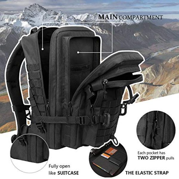 Hannibal Tactical Tactical Backpack 3 Hannibal Tactical MOLLE Assault Pack, Tactical Backpack Military Army Camping Rucksack, 3-Day Pack