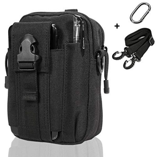 Camyse Tactical Backpack 1 Camyse Outdoor Tactical Waist Bag EDC Molle Belt Waist Pouch Security Purse Phone Carrying Case for iPhone 8 Plus Galaxy Note 9 S9 Or Less Than 6.2 inches Smartphone