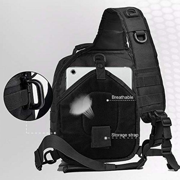 Monoki Tactical Backpack 5 Monoki Tactical Sling Backpack, Military Rover Shoulder Sling Bag Pack, Molle Assault Range Bag Day Pack