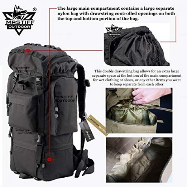 Mastiff Outdoor Tactical Backpack 3 Mastiff Outdoor Adventure Rucksack MOLLE Hiking Camping Gear Travel Survival Functional Backpack