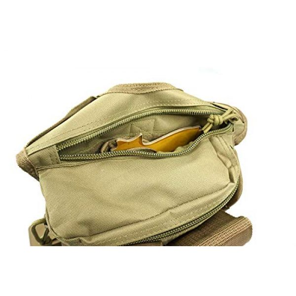 K-Cliffs Tactical Backpack 7 Rapid Deployment Push Pack Tactical Range Bag Responders Utility Sling Bags Tan