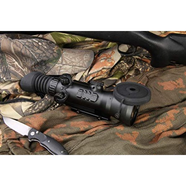 """PRG Defense Rifle Scope 6 PRG Defense 15WOL422103021 Model Wolverine 4 NL2 Gen 2+""""Level 2"""" Night Vision Rifle Scope with Sioux850 Long-Range Infrared Illuminator, 4X Magnification, 10m to Infinity Focus Range"""