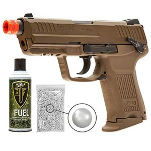 Wearable4U Airsoft Pistol 1 Wearable4U Elite Force H&K45CT GBB(VFC) Airsoft Pistol Green Gas BB Air Soft Gun with Bundle