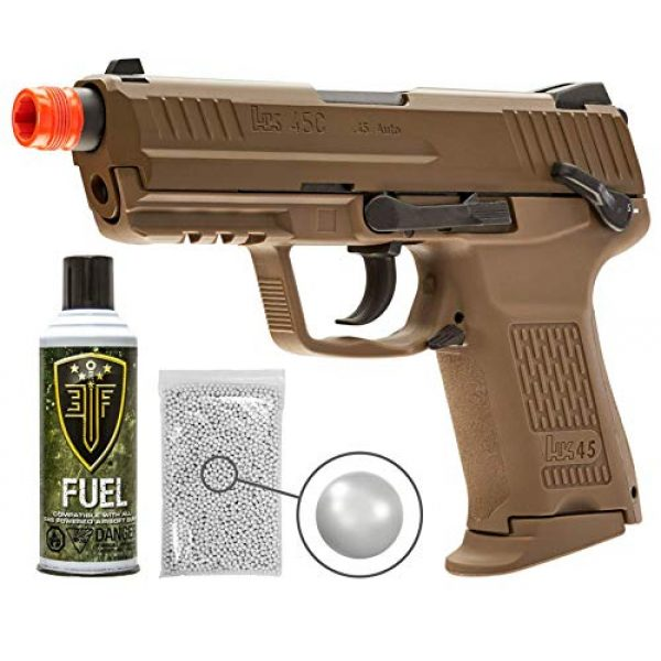 Wearable4U Airsoft Pistol 1 Wearable4U Elite Force H&K45CT GBB(VFC) Airsoft Pistol Green Gas BB Air Soft Gun with Bundle