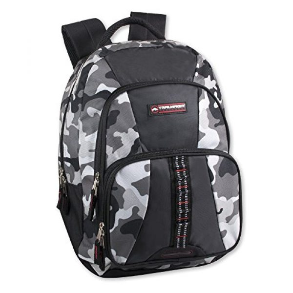 Trailmaker Tactical Backpack 1 Trailmaker Tactical Military Style Camo Backpack with Lash Tabs and Padded Back and Straps, Grey