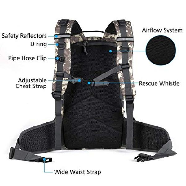 RUPUMPACK Tactical Backpack 4 Military Tactical Backpack Hydration Backpack by RUPUMPACK, Army MOLLE Bag, Small 3-Day Rucksack for Outdoor Hiking Camping Trekking Hunting School Daypack 33L with 3L Water Bladder