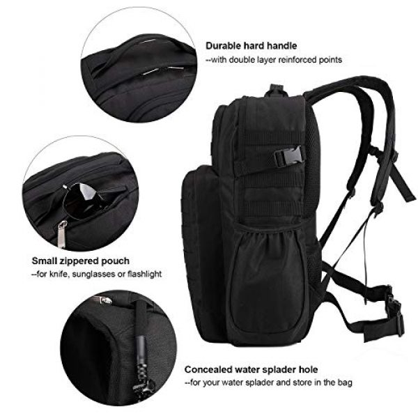 TAIBID Tactical Backpack 5 TAIBID Military Tactical Backpack Water Resistant Large Army 3 Day Assault Pack Outdoors