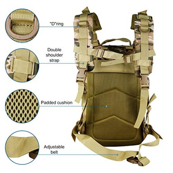 X&X Tactical Backpack 3 X&X Hiking Daypacks Hydration Pack Tactical Backpack Waterproof for Outdoor Travel Camping School (Bladder no Included)