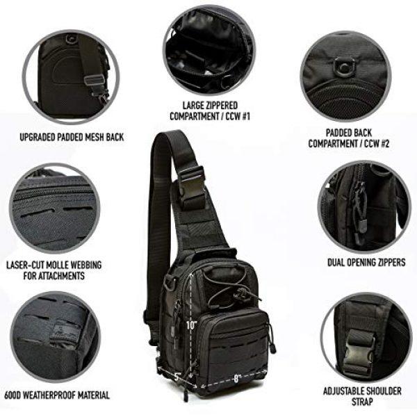 WOLF TACTICAL Tactical Backpack 7 WOLF TACTICAL Compact EDC Sling Bag - Concealed Carry Shoulder Bag for Range, Travel, Hiking, Outdoor Sports