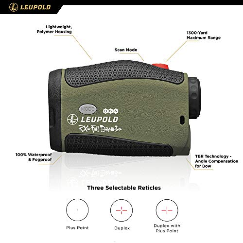 Leupold Rifle Scope 2 Leupold RX-FullDraw 3 Laser Rangefinder, Green, 6x (174557)