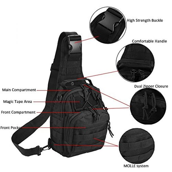 Novemkada Tactical Backpack 4 Tactical Shoulder Bag,1000D Outdoor Military Sling Daypack Backpack