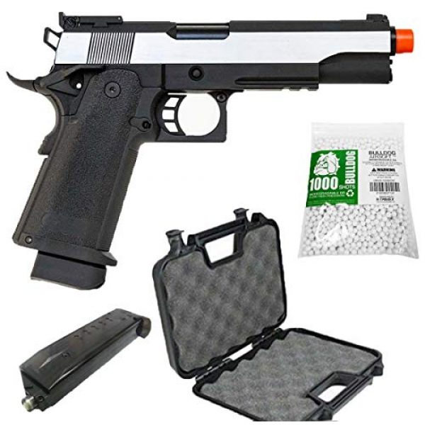 SRC Airsoft Pistol 1 SRC Hi-Capa 5.1 Dual Tone Co2 Airsoft Pistol Matte Finish [Airsoft Blowback]