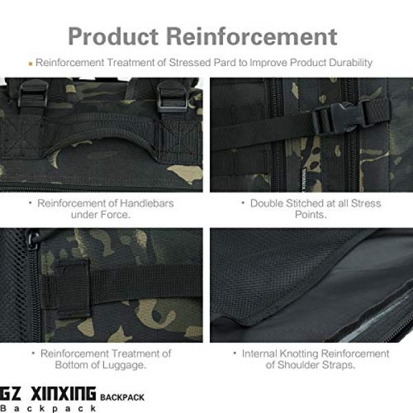 GZ XINXING Tactical Backpack 7 GZ XINXING 43L Large 3 day Molle Assault Pack Military Tactical Army Backpack Bug Out Bag Rucksack Daypack