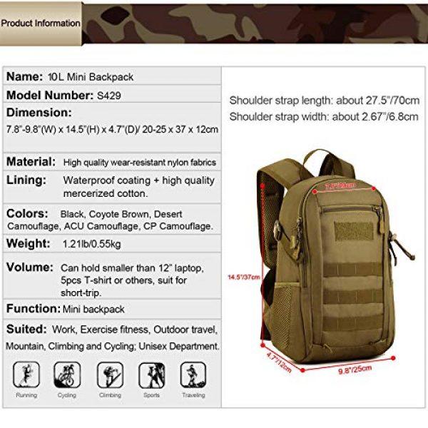 Huntvp Tactical Backpack 3 Huntvp 10L Mini Daypack Military MOLLE Backpack Rucksack Gear Tactical Assault Pack Bag for Hunting Camping Trekking Travel