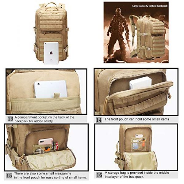 Suoki Tactical Backpack 6 Suoki 45L Molle Rucksack Outdoor Bug Out Bag Hiking Camping Backpack for Men Women