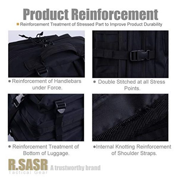 R.SASR Tactical Backpack 5 Upgrade Tactical Military Molle Backpack Army Waterproof Backpack.