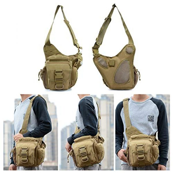 BraveHawk OUTDOORS Tactical Backpack 7 BraveHawk OUTDOORS Tactical Messenger Bag, 900D Oxford Waterproof Outdoor EDC Sling Pack for Fishing Hiking Camping Trekking Cycling