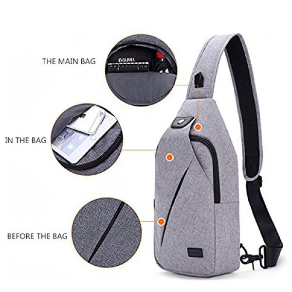 TINYAT Tactical Backpack 4 TINYAT Sling Bag Pack, Chest Shoulder Crossbody Hiking Backpack Sport Bicycle Rucksack School Daypack for Men Women T609