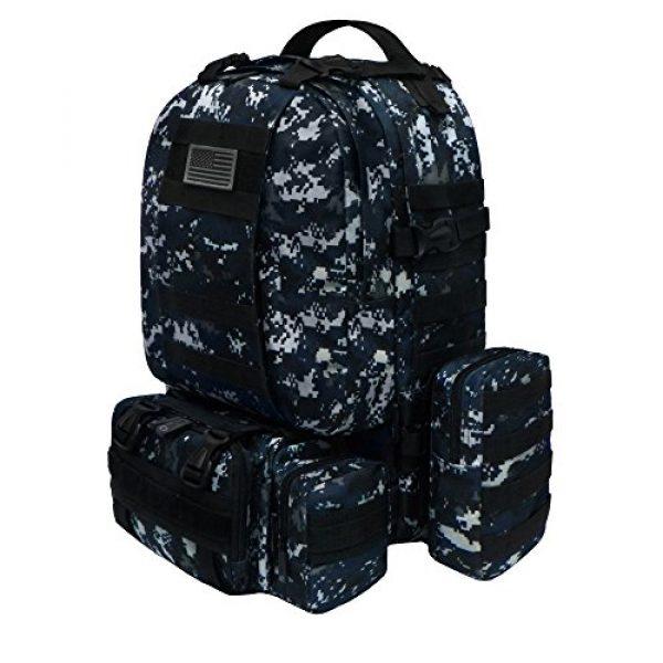 East West U.S.A Tactical Backpack 2 East West U.S.A RTC505 Tactical Molle Military Rucksacks Assault Combat Trekking Bag