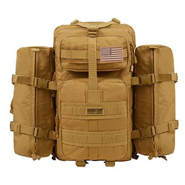 Seibertron Tactical Backpack 1 Seibertron Falcon Water Repellent Hiking Camping Backpack Compact Pack Summit Bag