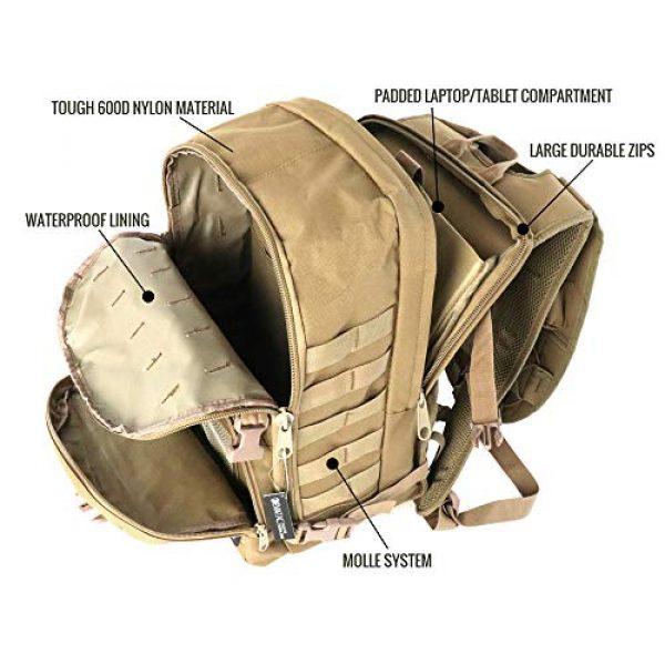 Evatac Tactical Backpack 7 Evatac Tactical Backpack for Military Combat | Large Size Khaki 35L 600D Molle Bug Out Bag Or Every Day Travel Back Pack.