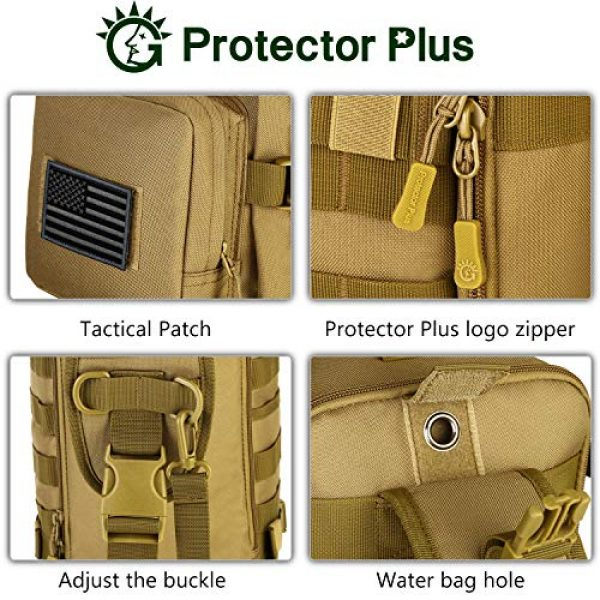 Protector Plus Tactical Backpack 7 Protector Plus Tactical Sling Bag Military MOLLE Crossbody Pack Assault Range Chest Shoulder Backpack EDC Diaper Satchel Motorcycle Bicycle Outdoor Daypack (Patch Included)