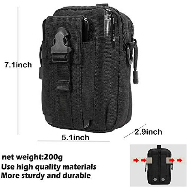 Camyse Tactical Backpack 7 Camyse Outdoor Tactical Waist Bag EDC Molle Belt Waist Pouch Security Purse Phone Carrying Case for iPhone 8 Plus Galaxy Note 9 S9 Or Less Than 6.2 inches Smartphone