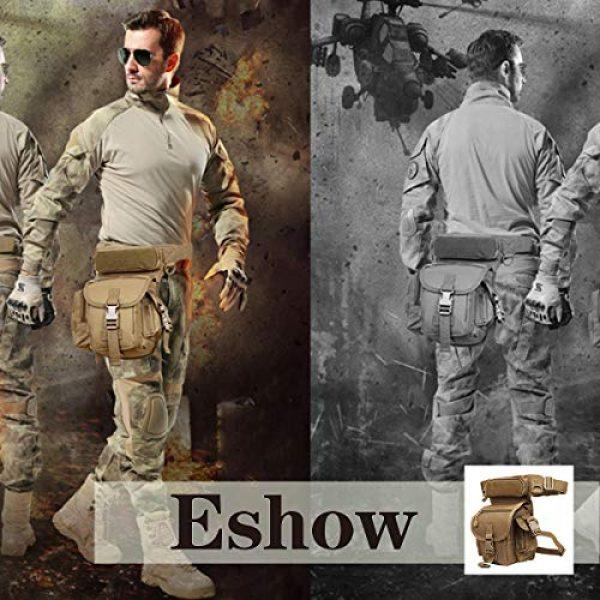 Eshow Tactical Backpack 4 Eshow Men's Drop Leg Pouch Tools Bags Tactical Leg Bag Fanny Pack Thigh Bags Bike Cycling Hip Bag Canvas Waist Packs