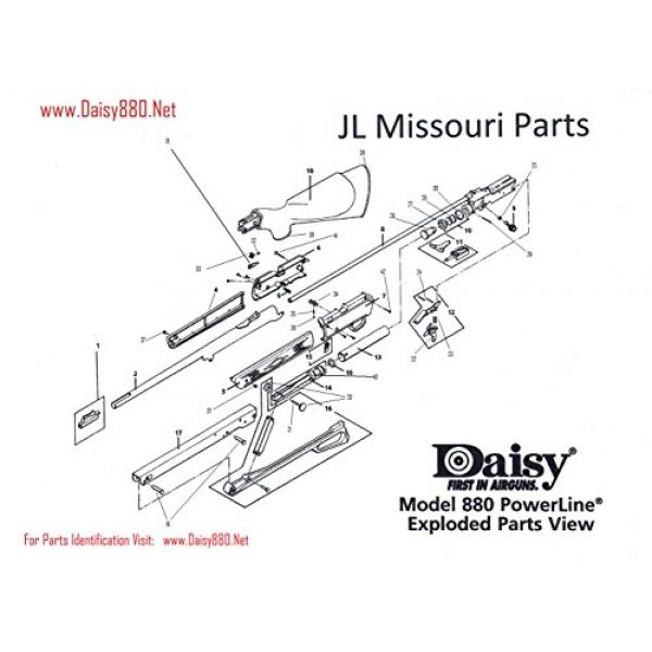 JL Missouri Parts Air Gun Accessory 6 JL Missouri Parts Daisy Powerline 7880 880 880s Stock LH Left Hand Forearm Grip Gun BB Air Rifle Current Production Light Brown