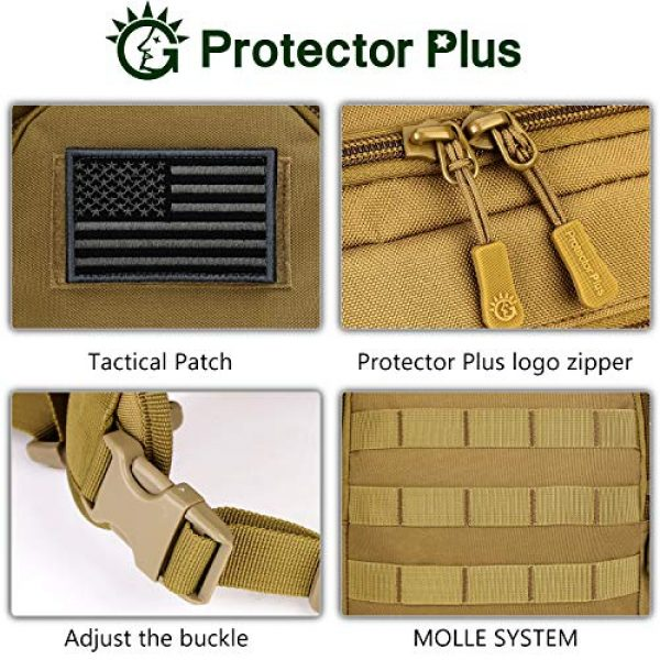 Protector Plus Tactical Backpack 7 Protector Plus Tactical Sling Bag Military MOLLE Crossbody Pack (Patch Included)