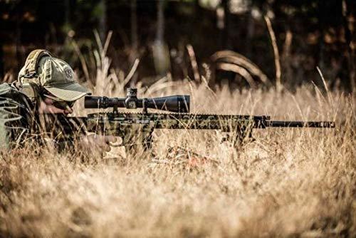NightForce Rifle Scope 4 Nightforce Optics 5-25x56 ATACR Series Riflescope, Matte Black with DigIllum Illuminated SFP MOAR-T Reticle, 34mm Tube Diameter, .250 MOA, Side Parallax Adjust