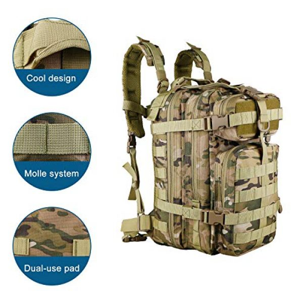 X&X Tactical Backpack 7 X&X Hiking Daypacks Hydration Pack Tactical Backpack Waterproof for Outdoor Travel Camping School (Bladder no Included)