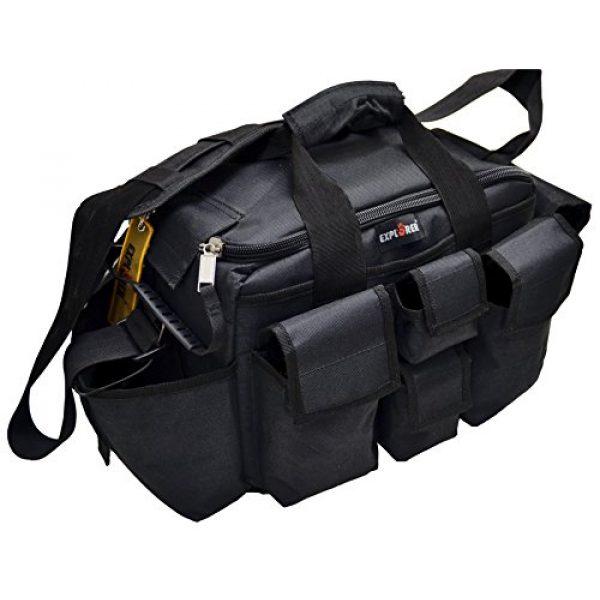Explorer Tactical Backpack 2 Explorer Tactical Range Bag Bail Out Bag Police Gear Bag Patrol Bag Hunting Shooting Bag, Black