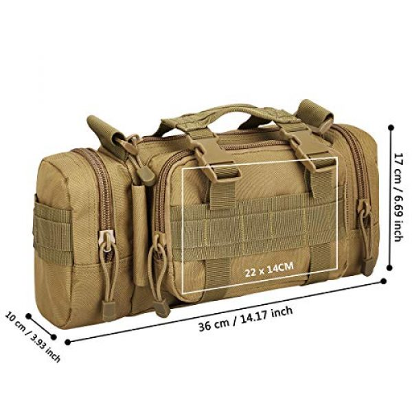 G4Free Tactical Backpack 3 G4Free Fanny Deployment Bag Tactical Waist Pack Small Sling Pack Hand Carry Bag Handlebar Bag