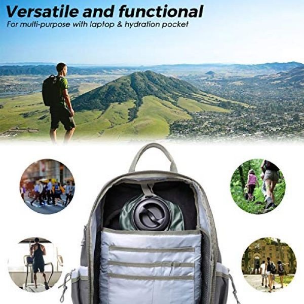 DBTAC Tactical Backpack 3 DBTAC Tactical Backpack Molle Hiking Daypack 25L with Laptop/Hydration Pockets