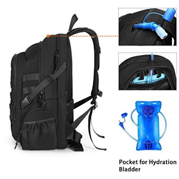 MOSISO Tactical Backpack 3 MOSISO Tactical Backpack, 2-Layer Multifuntional Large Molle Rucksack Daypack Adjustable Shoulder Back Pack Bag with Side Bottle Holder/USA Flag for Sport Outdoor Hiking Camping Training, Black