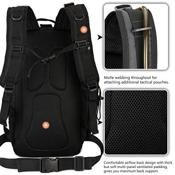 Protector Plus Tactical Backpack 2 Protector Plus Tactical Motorcycle Backpack Small Military MOLLE Cycling Hydration Daypack (Rain Cover & Patch Included)