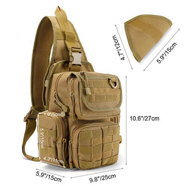 G4Free Tactical Backpack 3 G4Free Tactical EDC Sling Bag Pack with Pistol Holster Sling Shoulder Assault Range Backpack Handgun Gag for Concealed Carry