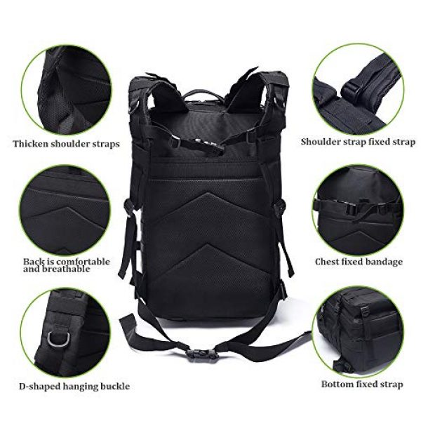 MilSurplus Tactical Backpack 5 Military Tactical Backpack for Men 40L Large Hiking Rucksack Pack Army Molle Bag for Hunting Travel Camping School