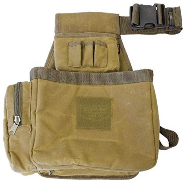 Birchwood Casey Tactical Pouch 1 Birchwood Casey Shell Bag with Belt - Brown Waxed Canvas, Model:BC-06812