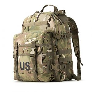 MT Tactical Backpack 1 MT Military Army MOLLE 2 Tactical Assault Backpack, Rifleman 3 Day Pack, Medium Rucksack for Outdoor, Hiking and Bug Out, Multicam Camo