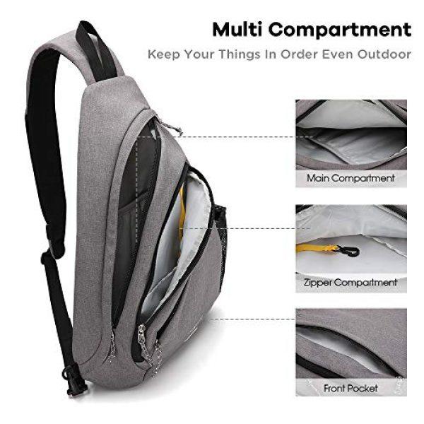 Kimlee Tactical Backpack 4 OIWAS One Strap Backpack for Men Single Strap Backpack Sling Bag Crossbody Shoulder Daypack for Boys Women