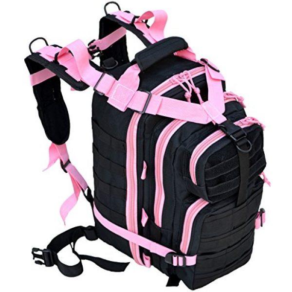 Explorer Tactical Backpack 5 Explorer Tactical 72 Hours Combat Rucksack 17 Inch Backpack-Black with Pick Stripes