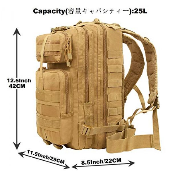 ATBP Tactical Backpack 3 ATBP Tactical Rucksack Backpack Military Hunting Hiking Daypack Large Army Molle Backpack
