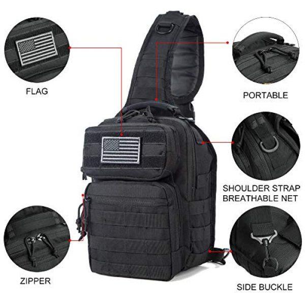J.CARP Tactical Backpack 3 J.CARP Tactical Sling Bag Pack Military Rover Shoulder Sling Backpack Small