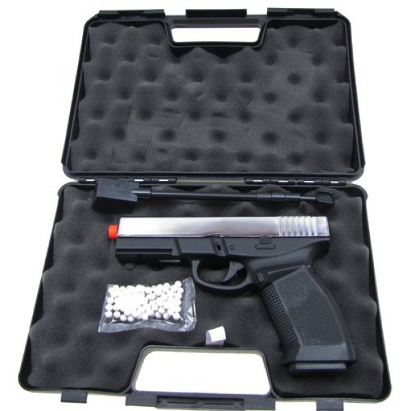 HFC Airsoft Pistol 6 HFC model-dark hawk full metal two-tone w/gun case(Airsoft Gun)