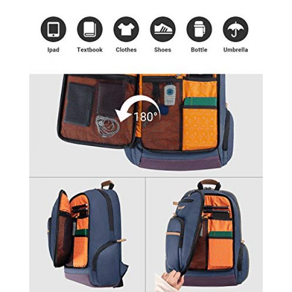 KingCamp Tactical Backpack 4 KingCamp Waterproof Laptop Backpack 17.3 inch for Women & Men Casual Daypack Backpack