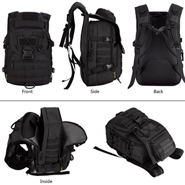 IDOGEAR SPORTS Tactical Backpack 6 IDOGEAR 40L Tactical Backpack Molle Assault Pack 900D Nylon Water Resistant Shoulder Bag Travelling Airsoft Backpacks
