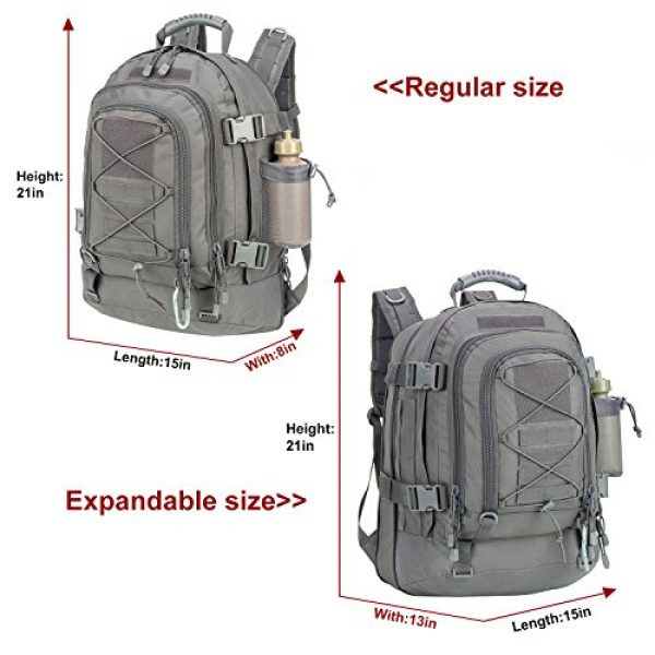 ARMYCAMO Tactical Backpack 6 Outdoor 3 Day Expandable 40-64L Backpack Military Tactical Hiking Bug Out Bag